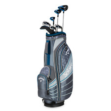 New Callaway Solaire 8 pc Complete Ladies Golf Club set Niagara Blue Cart Bag