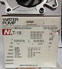 TOYOTA Water Pump L DIESEL 2200CC 16100-59047/59125  JAPAN