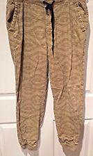 PLUGG Men's Slacks PANTS Size Large CAMO Beige Casual ELASTIC Waist & Leg 34/29