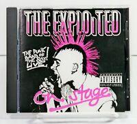 The Exploited Live On Stage Music CD Edinburge 1981 Street Punk Thrash Metal