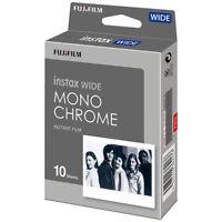 1 Pack 10 Instant Photos Monochrome FujiFilm Instax Wide Film Polaroid Camera