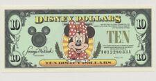 1998 A $10 Walt Disney Dollars MINNIE MOUSE UNCIRCULATED DisneyLand A01228033A