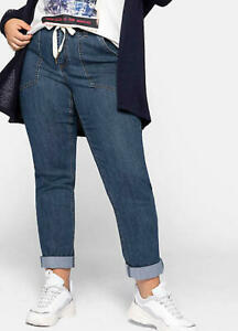 Sheego @ Curvissa Plus Size 32 Blue Stretch Denim Look Chinos TROUSERS Jeans £55