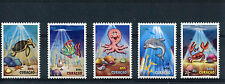 Curacao 2014 MNH Youth Care 5v Set Marine Fish Turtles Dolphins Octopus Stamps