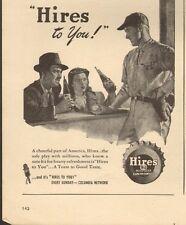 1947 vintage beverage AD, HIRES ROOTBEER Art Baseball player Soda Pop  (073014)