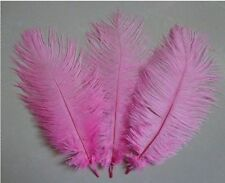 """FEATHERS OSTRICH X 5 pcs PINK  Millinery and Crafts 5"""" - 7"""" inch."""