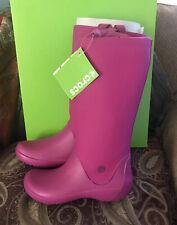 Crocs Rainfloe Boots Berry Pink Sz 6 NIB