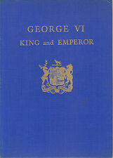 1937 book ~ George VI : King and Emperor presented by Borough of Lewisham