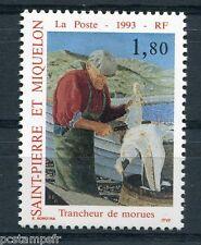 ST-PIERRE-et-MIQUELON, 1993, timbre 577, METIER, TRANCHEUR de MORUE, neuf**