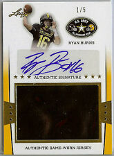 2013 Leaf Army 1/5 Ryan Burns Worn Jersey Auto Football Stanford Cardinals