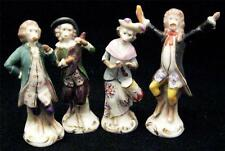 "Four C19th Chelsea Samson Novelty Monkey Band Figures Miniature 3.5"" Size"