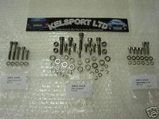 AW11 MR2 4AGE 1600cc 16v Stainless engine bolt kit