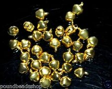 80 pcs iron charm bells, gold colour, 8 mm*