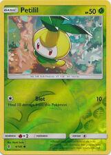 x4 Petilil  - 4/145  - Common - Reverse Holo Pokemon SM2 Guardians Rising M/NM E