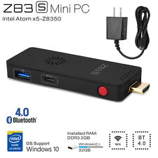 Mini PC Computer TV Stick Windows10 Intel 2.4GHz Atom Quad Core 2GB +32GB