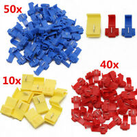 100PCS Electrical Quick Splice Lock Wire Cable Terminal Connectors Crimp Tool