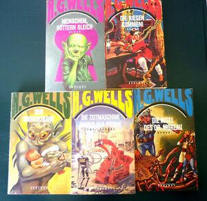 H.G.Wells Zsolnay Science Fiction: 6 Romane in fünf Bänden Zeitmaschine u.a.