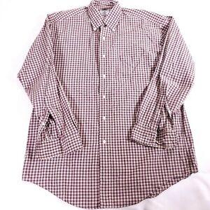 Brooks Brothers Sports shirt purple plaid size Medium 100% cotton