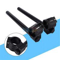 2Pcs Universel Moto 41mm Adjustable Clip Sur Guidon CNC Clip-ons Bracelet FRX