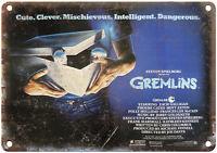 "NECA GREMLINS GREMLIN MOGWAI GIZMO WALL ART 10"" x 7"" Reproduction Metal Sign"