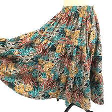 Pitchfork Brand Skirt Women Small Vintage Square Dance Cotton Elastic Waist