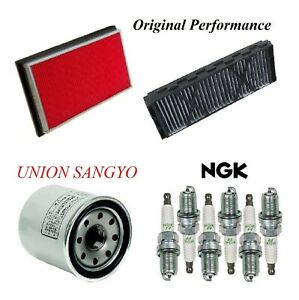Tune Up Kit Air Cabin Oil Filters Spark Plugs For INFINITI I30 V6 3.0L 2000-2001