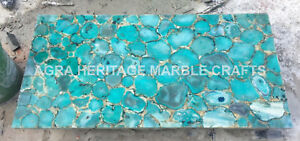 6'x3' Mable Green Dining Outdoor Hallway Table Top Malachite Random Inlay H5689C