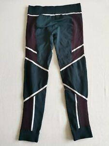 Sweaty Betty Thermal Base Layer Leggings - Red/Blue Geometric - Large