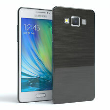 Schutz Hülle für Samsung Galaxy A5 (2015) Brushed Cover Handy Case Anthrazit