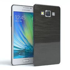 Schutz Hülle für Samsung Galaxy A5 (2015) Brushed Cover Handy Case Anthrazit