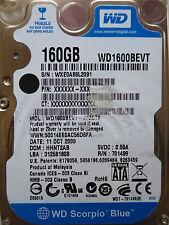 160 GB Western Digital WD1600BEVT-22ZCT0 / HHNT2AB  / OCT 2009 / disco duro *