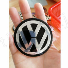 4 PCS 75mm Wheel Center Hub Cap Decals Emblem STICKERS For VW CENTER CAPS 3""