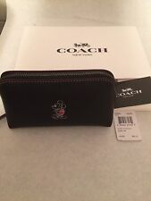 F59820 NWT Coach Limited Edition Disney X Mickey Cosmetic Case  Leather Black