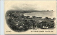 BOMBAY Mumbai Indien India Vintage Postcard ~1900 View From Malabar Hill RARE!