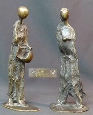 1940 jolie paire statuette bronze sculpture filiforme minimaliste 21c1.2kg déco