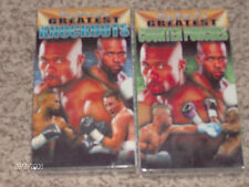 Roy Jones Jr.! 2 NEW/RARE VHS Movies! Roy's GREATEST Knockouts & Counter Punches