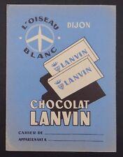 Protège cahier CHOCOLAT LANVIN  DIJON copybook cover Wachbuch