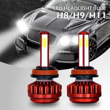 2pcs H11 H8 H9 360W 4 Side LED Headlight Conversion Bulb Light Lamp Kit 6000K