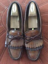 Allen Edmonds - Woodstock - Brown Leather Kiltie Rope Loafers - Men's 11 C