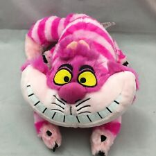 "Disney Cheshire Cat Alice In Wonderland Pink Striped Smiling Plush 16"" Toy Lovey"
