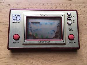 Octopus Nintendo Game & Watch Widescreen OC-22 1981 Working Perfectly