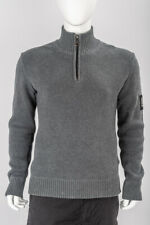 SUPERDRY GREY HEAVY COTTON ZIP NECK SWEATER JUMPER XL BOAT RACE HENLEY TOP