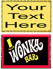 Personalizzata A5 wafer commestibile carta Willy Wonka BAR GOLDEN TICKET * CAKE TOPPER *