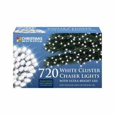 The Christmas Workshop 720 LED Chaser Cluster String Lights, Warm White