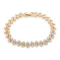 Pebble Paved Crystal Bracelet - Gold Plated