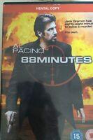 88 Minuti DVD 2007 Murder Mystery Thriller con Al Pacino Noleggio Version