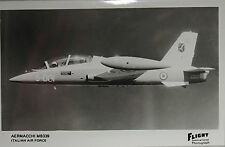 Flight International Photo Aermacchi MB339 Italian Air Force Postcard