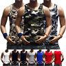 Men Tank Top Muscle T-Shirt Camo Sleeveless A-Shirt Cotton  Sports Hipster GYM