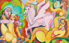 """57""""- PICASSO EDEN____ _____________ORIGINAL PAINTING oil on canvas by ANNA !"""
