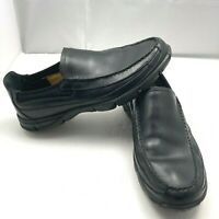 Timberland Slip On Casual Loafer Shoes Leather Black Men's Size 10.5M 81501